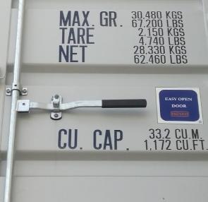 sea container easy open door