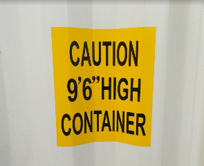 9.5ft high sea container