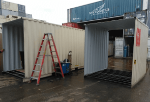 30ft sea container cut down