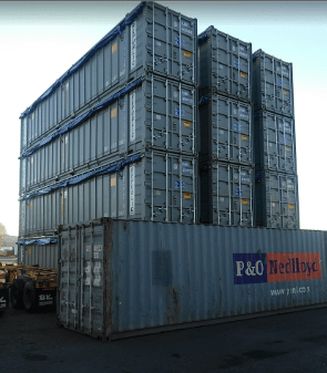 open top sea container
