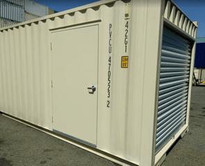 sea container 4ft wide man door