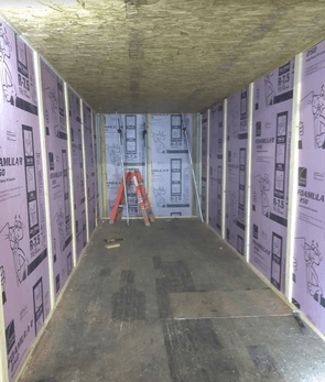 sea container insulation framing