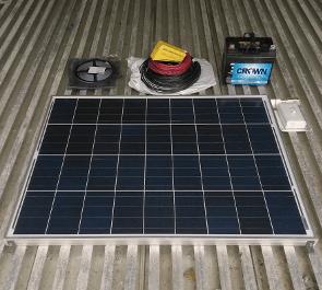sea container solar lighting kit