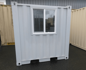 sea container window on 8ft container